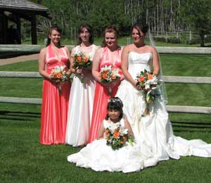 Bride & Ladies in Waiting