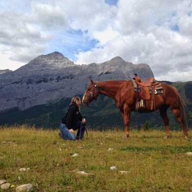 Horse and Rider on ridge