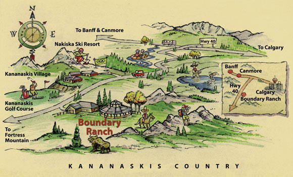 Map to Boundary Ranch