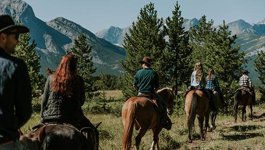 Boundary Ranch, Kananaskis, Alberta - Ridge Trail Horseback Riding Tour with Steak Lunch
