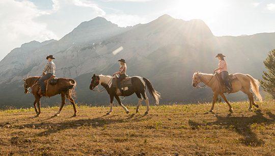 Boundary Ranch, Kananaskis, Alberta - Trail Blazer Horseback Ride Tour